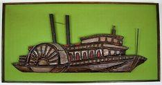 RARE Original Mid Century Modern WITCO Tiki Wall Art Green Ship Boat Vintage MCM | eBay Mid Century Modern Art, Mid-century Modern, Boat, Ship, Wall Art, The Originals, Green, Painting, Vintage