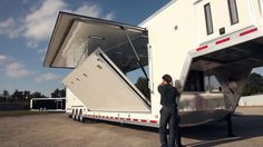 ATC Trailer's Fold Out Extension Room is a one-of-a-kind trailer option that adds more square footage to a trailer than a traditional slide-out, without decr...