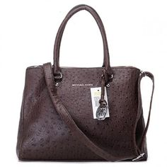 ae6e6b45060a Sale Michael Kors Hamilton Tote Ostrich-Embossed Coffee Bag   Cheap Michael  Kors Check out the website for
