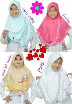 Jilbab Anak Hijab Fashion 2017, Muslim Fashion, Hijab Dress, Hijab Outfit, Kids Gown, Children Dress, How To Wear Hijab, Dress Anak, Kente Styles