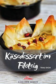 Schnell ein knuspriges Käsedessert gezaubert. Probiert es aus! Dessert, Pineapple, Fruit, Food, Easy Cooking, Fast Recipes, Good Food, Food Food, Deserts