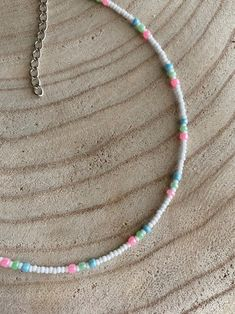 Beaded Anklets, Beaded Choker Necklace, Seed Bead Necklace, Seed Bead Jewelry, Bead Jewellery, Diy Necklace, Cute Jewelry, Necklace Designs, Beaded Jewelry