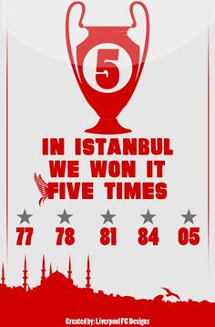 ☼ #LFC #artwork We won it five times #UCL