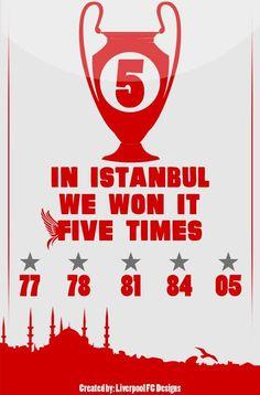 ☼ #LFC #artwork We won it five times #UCL