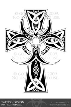 Request from . She asked for a celtic cross with a biohazard symbol worked into the middle. No crits, finished unless ~healthXhazard needs any changes.