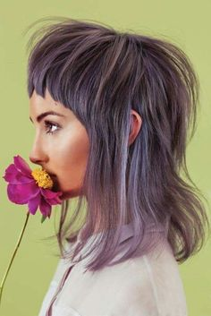 Purple Hair-Hair Goals. I think Lavenger is the most flattering COLOR color you can go with your hair
