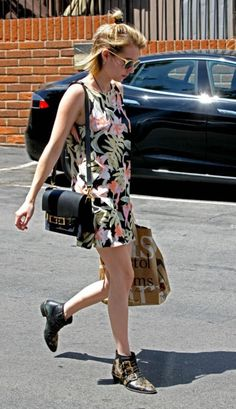 5/1/14 -Emma Roberts leaving Bristol Farms in West Hollywood.