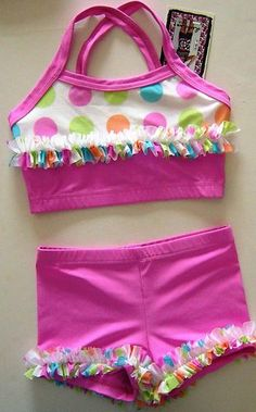 Lexi-Luu Designs Dance/Gymnastics Outfit Crop Top and Bootie Short Set