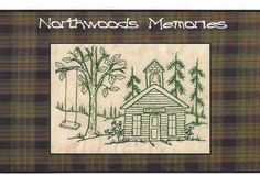 redwork hand patterns   Northwoods Memories School House - Redwork Hand Embroidery Pattern by ...