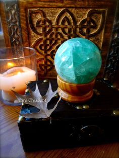 Green Fluorite Scrying Ball 60mm by EireCrescent on Etsy, $49.99