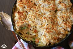 Cheesy Biscuit Topped Chicken Pot Pie FoodBlogs.com