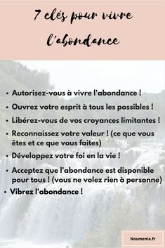 7 clés pour vivre l'abondance Vie Positive, Positive Affirmations, Miracle Morning, Wide Awake, Learn French, Best Self, Spiritual Quotes, Consciousness, Inspire Me