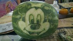 Mickey mouse watermelon carving