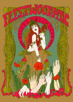 Giclee Art Prints-Stampa giclée Poster 18 x 12 pollici Fleetwood Mac Rock Posters, Band Posters, Hippie Posters, Movie Posters, Photo Wall Collage, Collage Art, Art Hippie, Vintage Music Posters, Pics Art