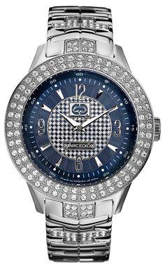 men custom breitling yellow diamond watch super avenger custom marc ecko men s e16533g2 the king silver stainless steel watch bold style makes all the
