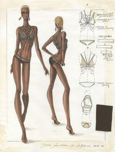 Design & Illustration by Dana Schnitman for La Blanca | Otis Fashion, 2005