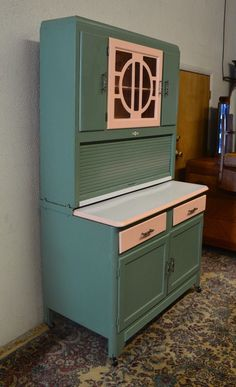 Vintage 1920 S Hoosier Cabinet With Flour Sifter Porcelain Top Made By Ers Ebay