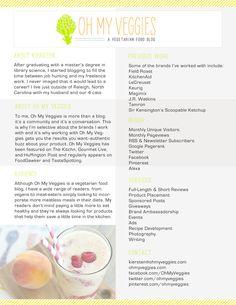 Oh My Veggies - Branding & Media Kit - IHOD