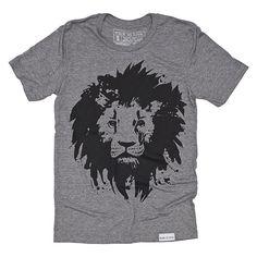 Lion Gray T-Shirt - walk in love.