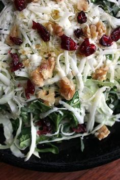 Cabbage Salad  (spinach, cabbage, cranberries, cheese, walnuts) with a  honey drizzle