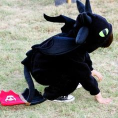 Need to make a Toothless or Basic Dragon Costume?! Start with a basic sweatsuit and go from there!