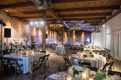 Studio AG centerpieces and lighting at Gallery 1028