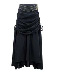 Nightwalker Steampunk Black Skirt
