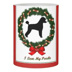#personalize - #Poodle Christmas Candle