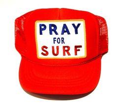 Aviator Nation Kids Vintage Foam Trucker - Pray for Surf (Red)