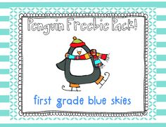 Snowman Glyph and Penguin Freebies