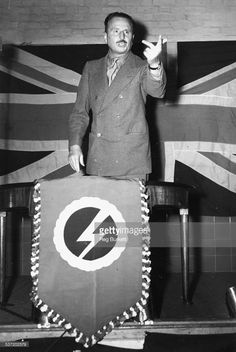 Sir Oswald Mosley giving two fingers to the British Establishment 16 October 1948 Mitford Sisters, Bizarre Photos, The Third Reich, Socialism, World War Two, Ww2, Britain, Germany, History