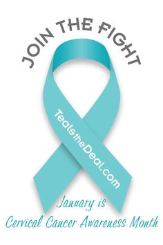 Spreading TEAL for January and Cervical Cancer Awareness Month!