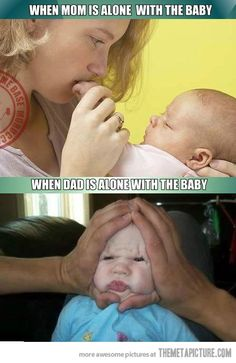Moms vs. Dads--haha, so true!