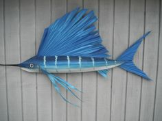 sailfish made entirely from materials I gather from Florida Keys palm trees Palm Tree Crafts, Palm Tree Art, Palm Trees, Fish Crafts, Cat Crafts, Beach Crafts, Palm Frond Art, Palm Fronds, River House Decor