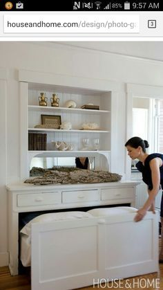 Bed in drawer. Could use in knee wall.