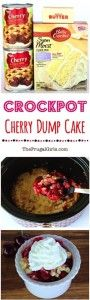 Crockpot Cherry Dump Cake Recipe
