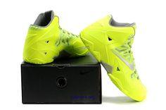 LeBron James Shoes 2014 | 2014 Nike Zoom Lebron James XI 11 New Green Mens Basketball Shoes
