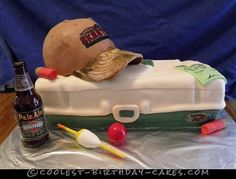 Surprise Fishing and Hunting Birthday Cake... Coolest Birthday Cake Ideas
