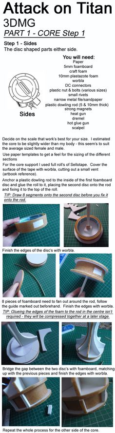 Attack on Titan, 3DMG, Tutorial - CORE STEP 1 by Aliasdotcom