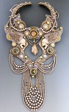 Neckpieces by Sherry Serafini.  Click through to view all the stunning pieces.