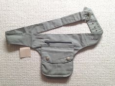 light green UTILITY BELT, fanny pack, Pocket belt, Festival belt, canvas pocket belt