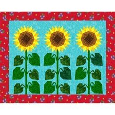 sunflower quilt pattern I'm thinking Daisies if modified a bit...