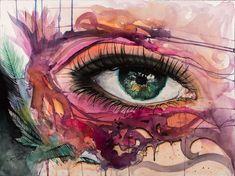 Original Portrait Painting by Raluca Judet Ink Painting, Watercolor Paintings, Original Paintings, Original Art, Eye Close Up, Marker Art, Watercolor And Ink, Buy Art, Saatchi Art