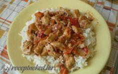 Paprikakrémes sült csirkemellcsíkok recept fotóval Chicken, Food, Red Peppers, Essen, Meals, Yemek, Eten, Cubs