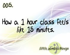 little zumba things, time goes fast
