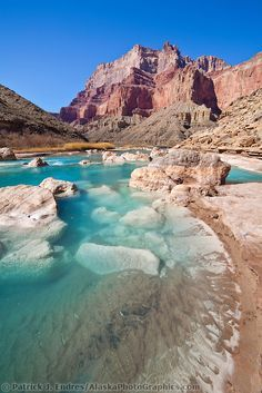 Aqua blue waters of the LIttle Colorado River, Grand Canyon National Park, Arizona | Patrick J Endres