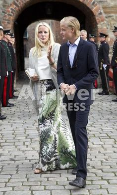 Mette Marit and her son Marius attended the wedding of her nephew. The ceremony took place in Oslo
