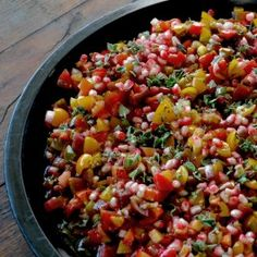 Tomato and pomegranate salad.  I can't wait to try this.  It's from Yotam Ottolenghi, a wonderful Israeli chef.  I love his food and his cookbooks.  So many interesting flavor combinations, like this one!