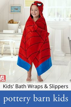 Kids' Bath Wraps & Slippers