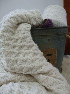 Peruvian Alpaca Throw Hand Knit  READY TO SHIP
